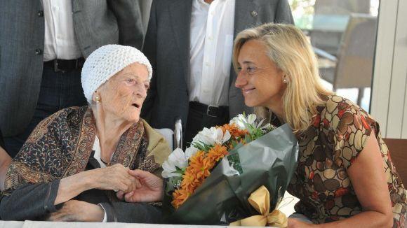 La santcugatenca Rosa Martínez celebra 100 anys