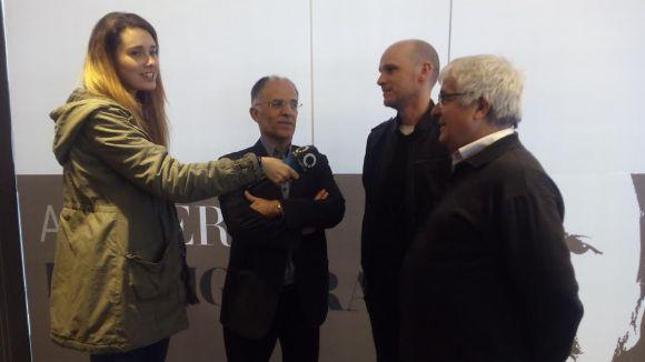 Xavier Escura, Andreu Dengra i David Balseslls, al costat d'Eva Garrido