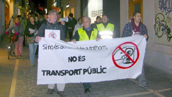 Nova protesta de l'ADS pels preus del transport públic