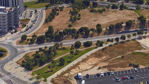 Aquests són els terrenys on s'ubicarà el Bikepark al costat del túnel de Can Bellet / Font: Google Maps