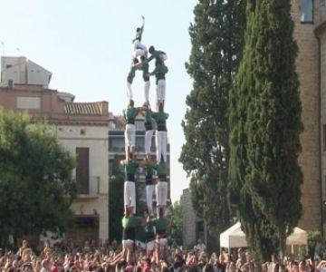 Els Castellers de Sant Cugat descarreguen el 5 de 7 per primer cop aquesta temporada