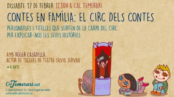 Famílies en Xarxa: Contes en família: 'El circ dels contes'