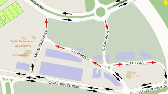 Canvis de sentit de circulació i d'aparcament a la zona de Sant Mamet a partir d'avui