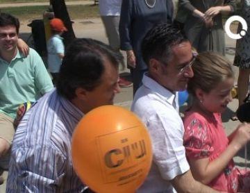 El santcugatenc Jordi Martí amb Duran i Lleida en un acte de campanya.
