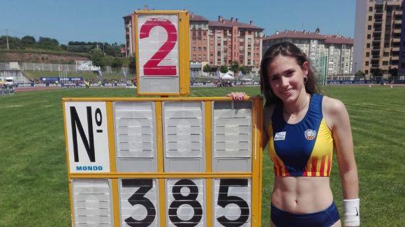 Clara Fernández, campiona d'Espanya sub 16 de perxa / Font: Muntanyenc
