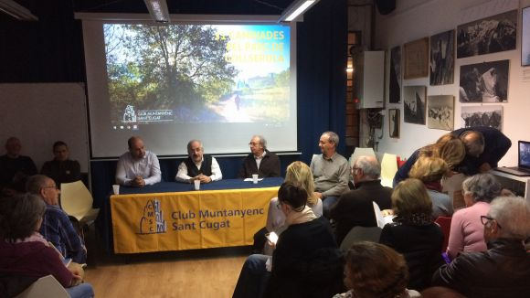 El Club Muntanyenc Sant Cugat recorre Collserola amb el llibre '31 Caminades pel Parc de Collserola'