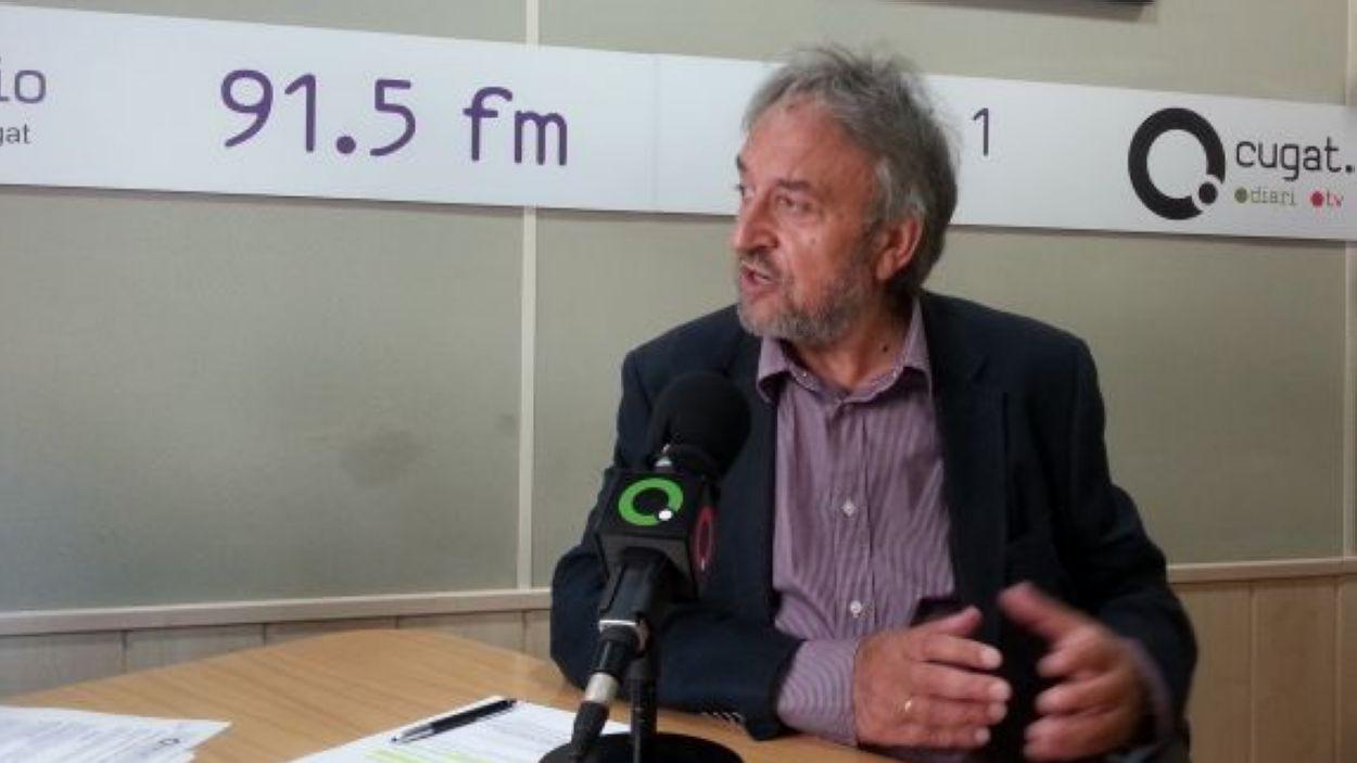 Josep Canals a Ràdio Sant Cugat (2017) / Foto: Cugat Mèdia