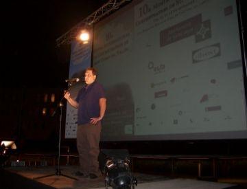 El director de 'Curts i més', Daniel Codorniu, en el moment de la inauguració de la mostra