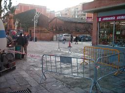 La reparació de la Plaça d'en Coll es farà quan es pugui obrir al trànsit el Torrent d'en Xandri.
