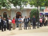 Més d'un centenar de persones en congreguen contra l'atac a Isaías Carrasco