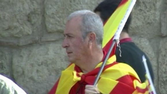 L'espanyolisme aplega una trentena de santcugatencs per anar a plaça Catalunya