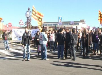 Treballadors de HP es manifesten al Barcelona Mobile World Congress