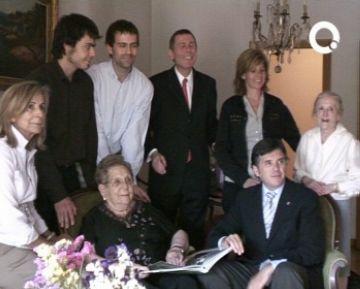 L'alcalde felicita els 100 anys de la santcugatenca Concepció Grumé