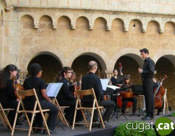 Amics i familiars recorden Mercè Alegre amb un concert al claustre del Monestir