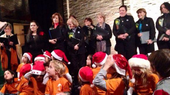 La Unió reuneix sobre l'escenari tres corals en el concert de Nadal