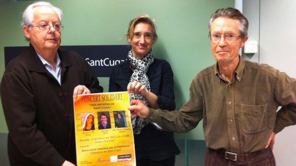 Tres artistes santcugatencs actuaran pels afectats del Parkinson