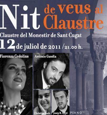 Fiorenza Cedolins actua avui al Monestir en un concert benèfic