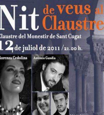 Fiorenza Cedolins actua dimarts vinent al claustre del Monestir en un concert benèfic