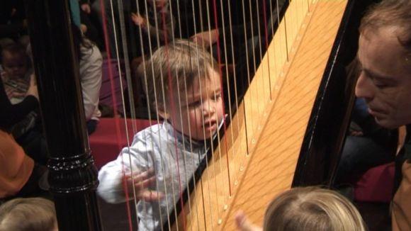 Els més petits experimenten amb la música al Teatre-Auditori