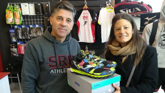 Desireé Asensio, guanyadora de les bambes d'ultra trail del concurs Thinkinsport i Esport en Marxa