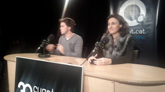 Conesa respon les preguntes dels més petits en l'entrevista de Cugat.cat