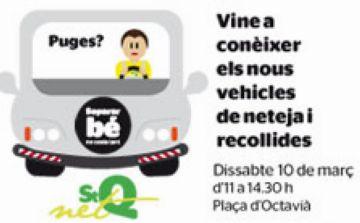 La plaça d'Octavià acollirà els vehicles de recollida i de neteja