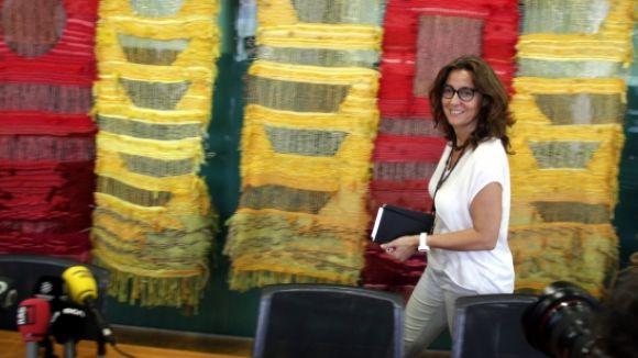 L'alcaldessa, Mercè Conesa, a la sala Ginesta de l'Ajuntament / Foto: ACN
