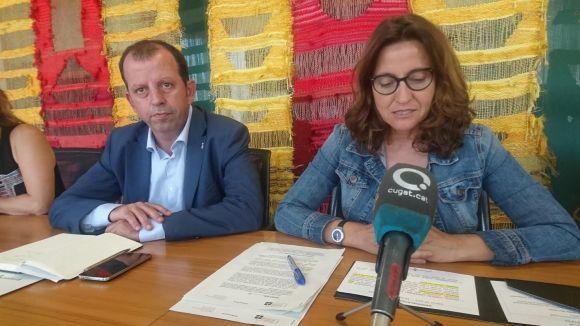 Brugarolas i Conesa, durant la roda de premsa