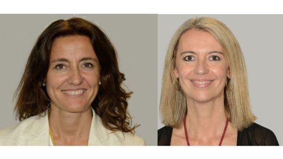 Mercè Conesa (CiU) i Mireia Ingla (ERC-MES)
