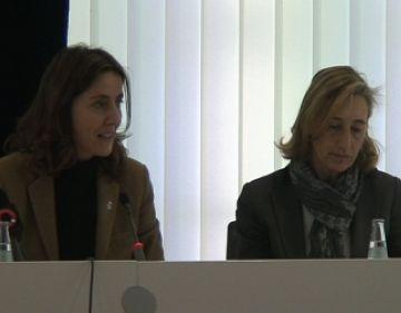 Mercè Conesa i Susanna Pellicer a la presentació del llibre