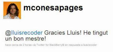 L'adéu de Recoder i la presa de possessió de Conesa, al Twitter