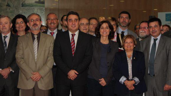 Conesa, durant la reunió amb els alcaldes dels municipis integrants / Font: Premsa Ajuntament Sant Cugat