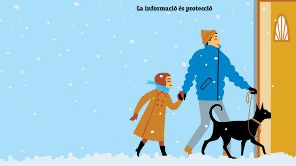 Evitar els desplaçaments i estar ben informat, essencial en cas de nevada
