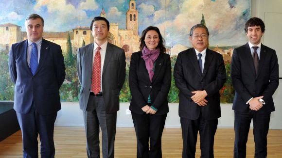 Visita del cònsol general del Japó de Barcelona