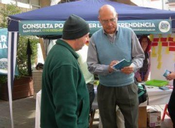 Compte enrere per a la consulta a Sant Cugat sobre la independència de Catalunya
