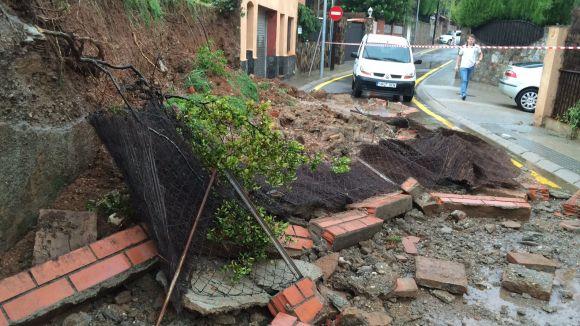 La pluja de dimarts provoca diverses incidències a Sant Cugat
