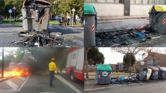 La investigació de Mossos atribueix a una mateixa persona l'augment de contenidors cremats