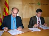 L'alcalde i el president de l'associació han signat un conveni que converteix aquest col·lectiu en l'interlocutor de l'administració dins l'àmbit empresarial