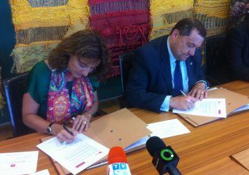 Acord entre la Fundació Damm i l'Ajuntament per donar 97.000 euros al Teatre-Auditori