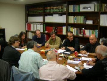 Imatge de la reunió de la Coordinadora d'Entitats