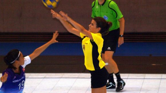 Berta Alomà en acció amb la selecció catalana sub 23 al mundial / Font: Berta Alomà
