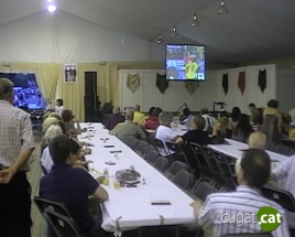 El CPA inaugura la caseta de Festa Major amb futbol, música, menjar i beguda