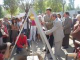 Les obres, a càrrec de Promusa, van començar fa un any amb l'acte de col·locació de la primera pedra