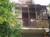 Vista del balcó on s'han produit els fets.