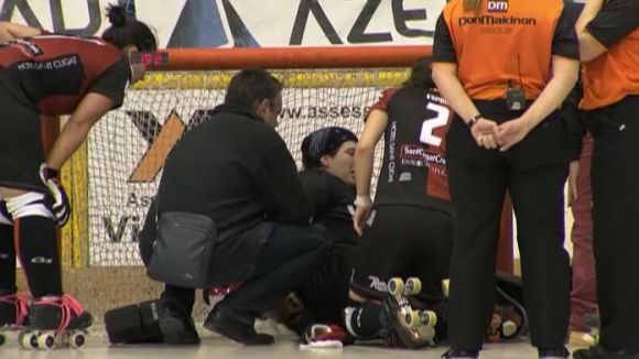 Cristina Eliè, després de l'acció de la lesió