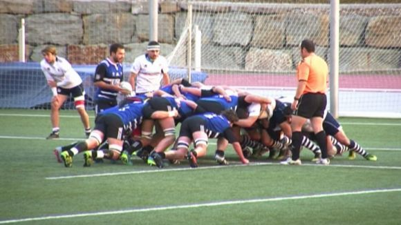 El Rugby Sant Cugat suma un triomf important davant el Calvià per només un punt