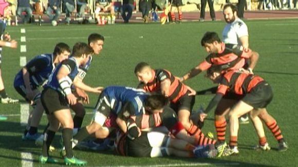 Un Rugby Sant Cugat coratjós sucumbeix al líder, el Les Abelles, tot i plantar-li cara i sumar un punt de bonus