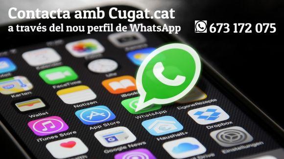 Cugat.cat obre un canal a Whatsapp per facilitar la participació ciutadana al mitjà