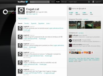Cugat.cat ja té un miler de seguidors a Twitter