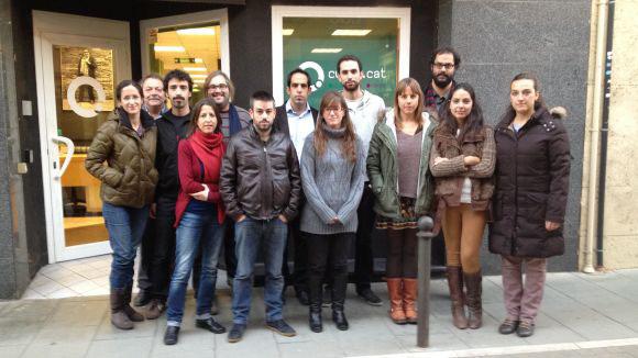 Els treballadors de Cugat.cat es concentren contra el tancament de Canal 9